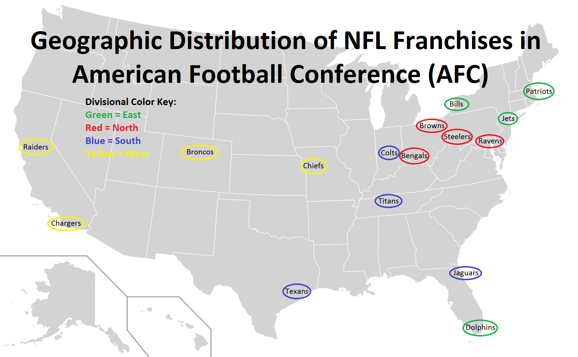geographic distribution map of afc franchises