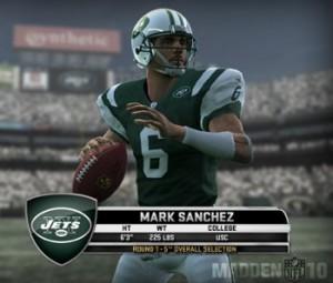 Jets QB Mark Sanchez in Madden NFL 10