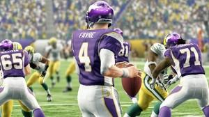 Vikings QB Brett Favre in Madden NFL 10