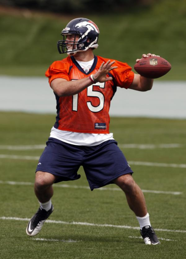 Tim Tebow at Denver Broncos Minicamp