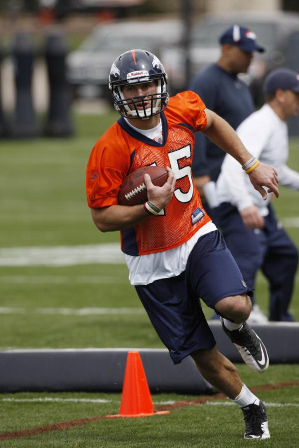 Tim Tebow at Broncos Minicamp 2010