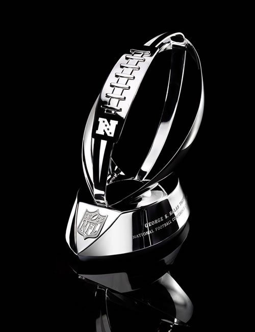 NFL Championship Trophy Name http://thesportsgeeks.com/2011/01/22/the-sports-geeks-present-game-picks-for-the-nfl-conference-championships/