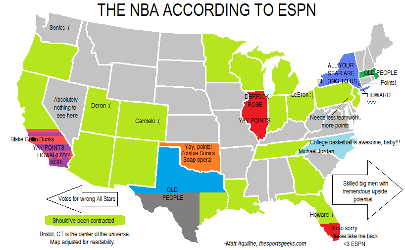 Map: The NBA As Seen By ESPN | The Sports Geeks