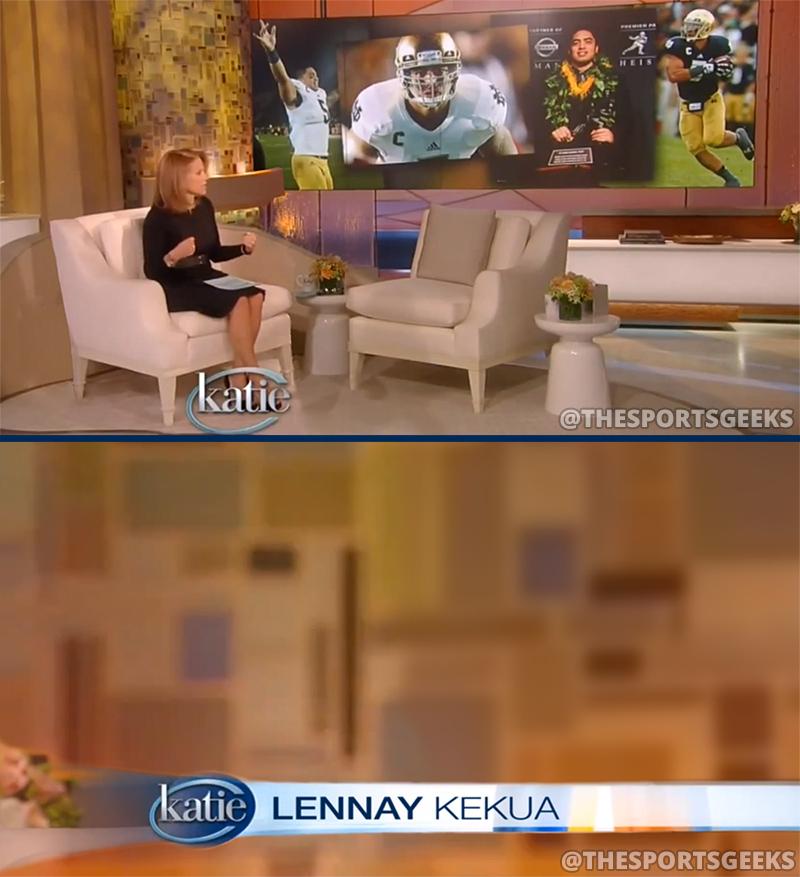 Manti Te'o's fake girlfriend Lennay Kekua On Katie Couric Show