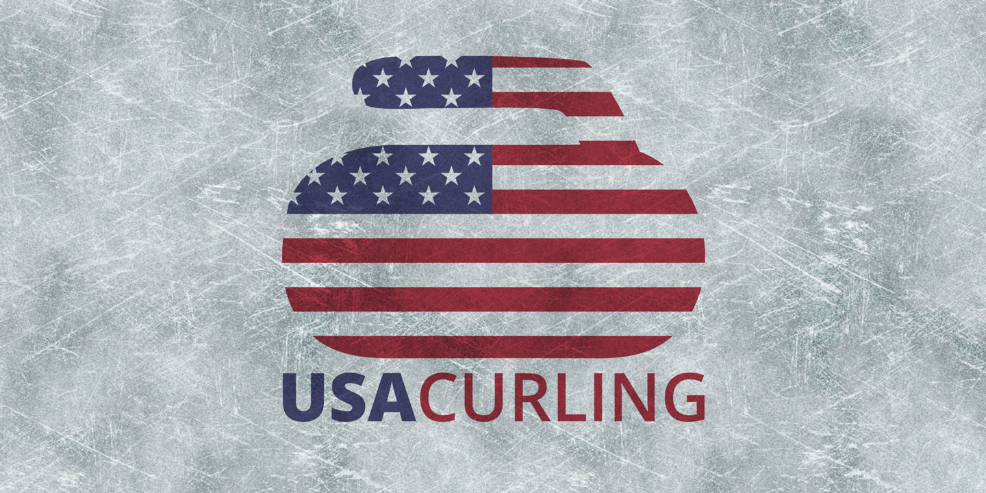 USA Curling Logo on Ice